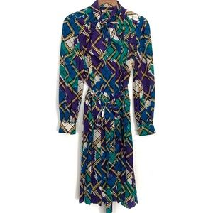 Vintage Yves Saint Laurent long sleeve dress RARE